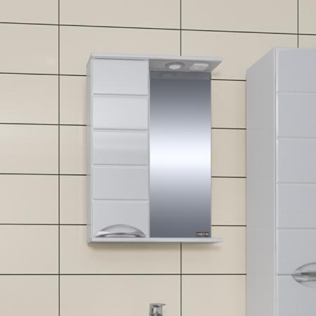 Зеркало  Санта Родос 50 со шкафчиком левый свет